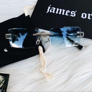 JAMES ORO BLUE TINT SUNGLASSES